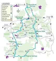 map of the colorado historic hot springs loop  the thermal waters