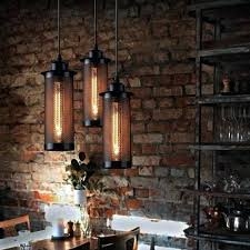 edison bulb pendant lighting. Light. Industrial Loft Hanging Lamp Black Iron Bulb Pendant Light Lighting Edison Bare Lights