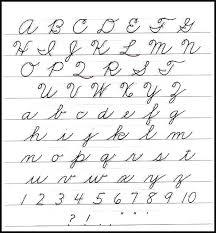 Cursive Letter Chart Free Printable 74 Punctilious Capital Letter Alphabet Chart