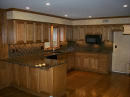 Wooden Floor Kitchen Modern Oak Cabinets With Dark Wood Floors Matching Kitchen