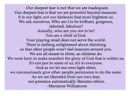 Marianne Williamson Quotes Gorgeous Fear Quote By Marianne Williamson €�Our Deepest Fear Is Not Flickr