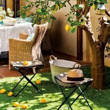 modern patio decorating ideas. Wonderful Modern Small Backyard Design With Retro Modern Furniture And Rustic Decor On Modern Patio Decorating Ideas