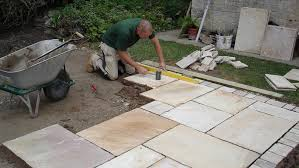 how to lay patio slabs page 1 line