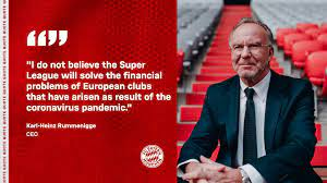 Official website of fc bayern munich fc bayern presented by. European Super League Statement By Karl Heinz Rummenigge