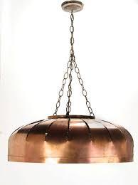 studio design copper concentric circles hanging light fixture 2