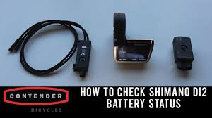Di2 Charger Lights How To Check Shimano Di2 Battery Status