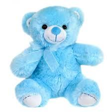 happy birthday blue color teddy