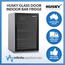 husky 130l single glass door under