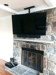 hang tv stone fireplace fireplaces with north star mountain stack mounting