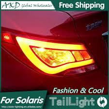 2013 Hyundai Accent Brake Light Akd Car Styling For Hyundai Accent Led Tail Lights 2011 2013 Solaris Tail Light Verna Rear Lamp Drl Brake Park Signal