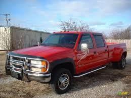 1998 Victory Red Chevrolet C/K 3500 K3500 Silverado Crew Cab 4x4 ...