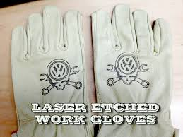 laser etch leather gloves
