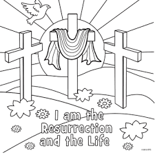 Small Picture He Is Risen Cross Coloring Pages Resurrection coloring page