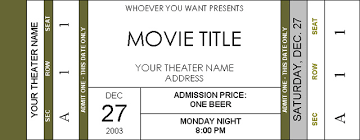 Microsoft Word Ticket Templates Movie Ticket Template Word Under Fontanacountryinn Com