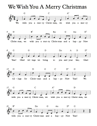 Free Sheet Music - Free Lead Sheets - We Wish You A Merry ...