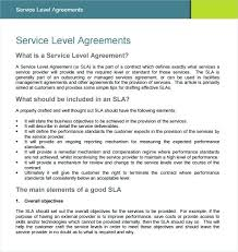Contract Service Level Agreement Template Sample Example Format Free ...