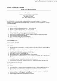 Sample Dental Assistant Resume Unique Personal Dental Resume
