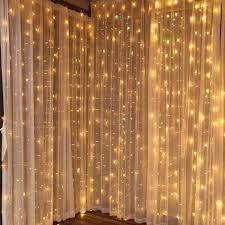 Decorative Lights Walmart Torchstar 9 8ft X 9 8ft Led Curtain Lights Starry Christmas String Light Icicle Light Fairy Light Curtain Light Decorative Lighting For Room