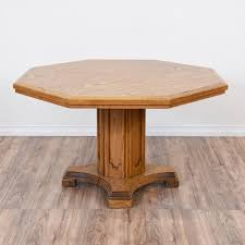 london oak large pedestal home. This Octagon Pedestal Table Is Featured In A Solid Wood With Glossy Honey Oak Finish. Dining Great Condition Carved Column London Large Home T