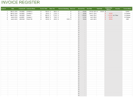 Free Sales Invoice Invoice Register Free Template For Excel