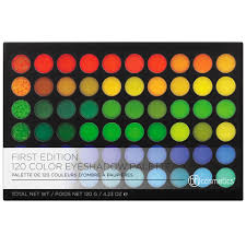 1st edition eyeshadow palette bright neon to neutral shades 120 color bh cosmetics