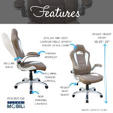office chair controls. High Back Executive Sport Race Office Chair With Flip-Up Arms Controls