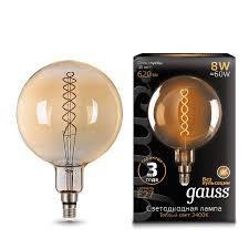 <b>Лампа Gauss LED Vintage</b> Filament Flexible G200 8W E27 200 ...