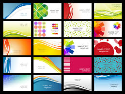 tamplate variety of dynamic flow line of business card templates 02 vector