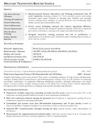 Military Transition Resume Examples Examples Of Resumes