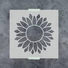 Sunflower Stencil Designs