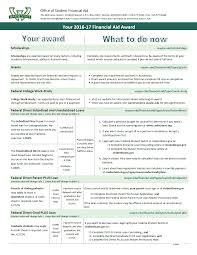 resources financial aid state university 2016 17 award letter information