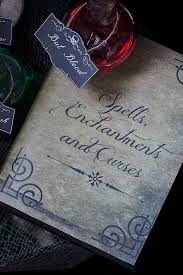 free printable spell book cover and potion labels fast and easy decorations