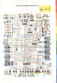 motorcycle wiring diagrams 77 78 kz1000