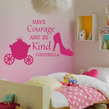fullsize of sy wall decals e cinderella have courage shoes decal girl room stickers from home
