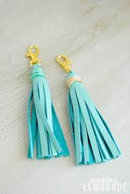 these diy leather tassel keychains are a cinch to make and can be used as on