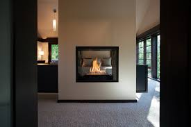 master bedroom ideas with fireplace. Double Sided Fireplace In Master Suite Modern-bedroom Bedroom Ideas With