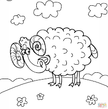 Small Picture Ram Coloring Page GetColoringPagescom