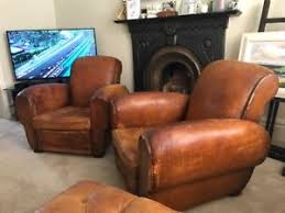 vintage leather club chairs. Image Is Loading Matching-pair-of-French-Vintage-Leather-Club-Chairs Vintage Leather Club Chairs