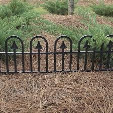h black resin garden border fence 51504