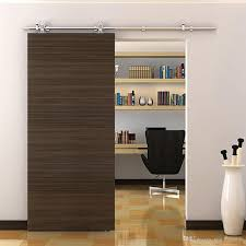 2018 5 8ft american heavy indoor stainless steel sliding wood door hardware flat track rail hanging single closet cabinet set from sun shine