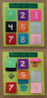 lift a flap counting quietbook page