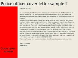 police officer police officer cover letters