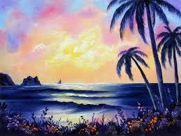 1 palm beach sunset 9x12 oils over acrylic on canvas board you