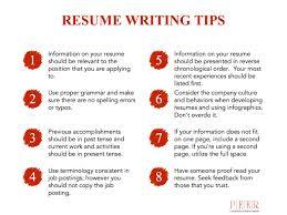resume writing tips resume writing tips peer learning mentoring