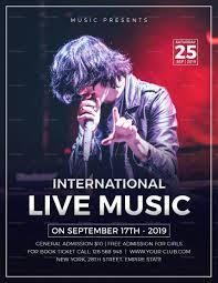 Concert Flyer Templates Free 042 Free Concert Flyer Template Ideas Music Psd Bundle