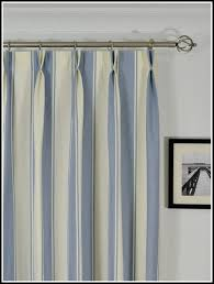 ... blue striped curtains. There ...
