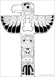 Small Picture Totem Pole Coloring Pages Bestofcoloringcom