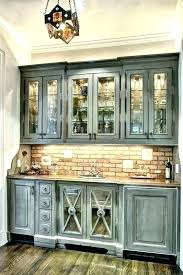 antique white glazed cabinets gray cute kitchen rustic style grey distressed wooden blue light st