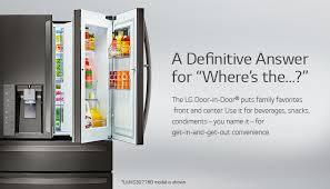 lg black french door refrigerator. lg door-in-door black stainless steel refrigerator lg french door
