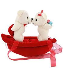 sofix plush cute couple on boat soft toy teddy bear valentine gift 20 cm